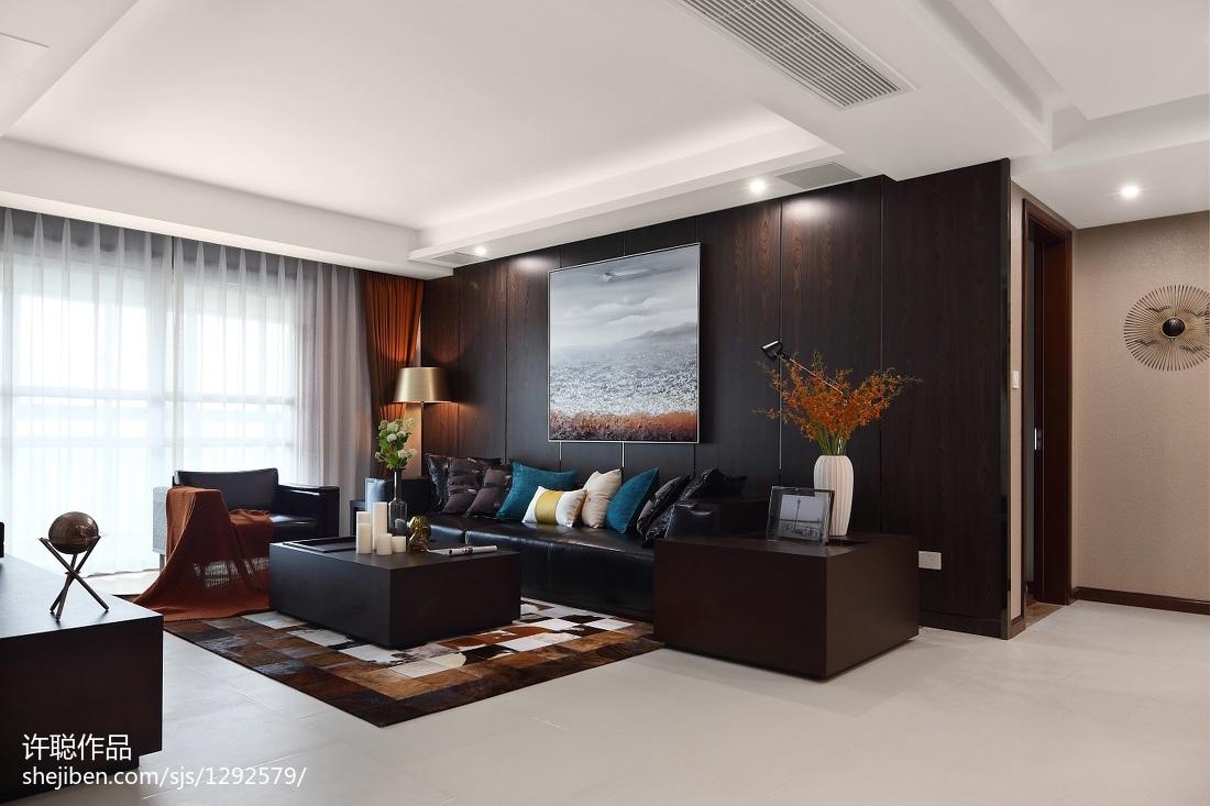 精美124平米四居客厅简约装修效果图片欣赏