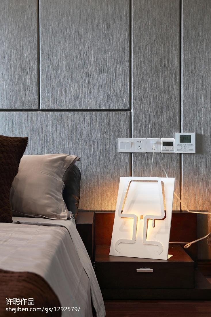 精美135平米四居卧室简约装饰图