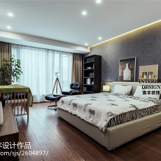 温馨现代风格卧室装修图