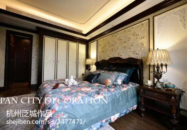 精选面积143平美式四居卧室装修图片
