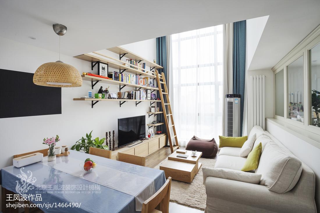2018精选面积123平复式客厅日式装饰图片大全