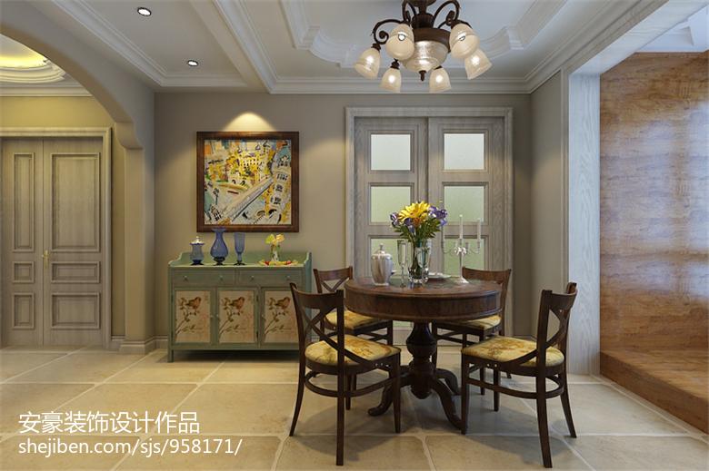 精选美式四居餐厅装修设计效果图片欣赏