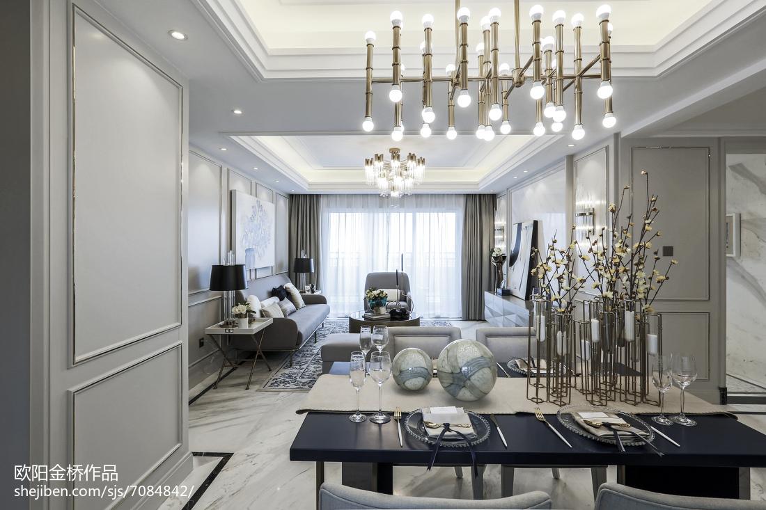 典雅254平欧式样板间客厅图片欣赏