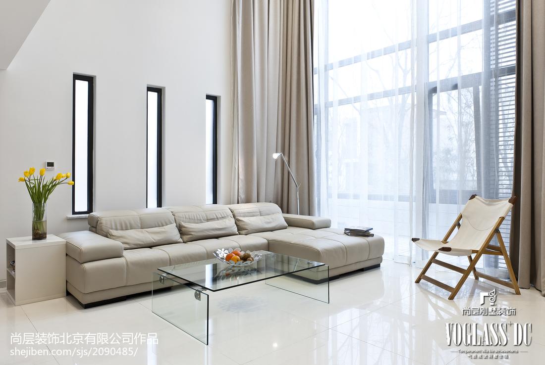 热门大小127平别墅客厅现代装修实景图片大全