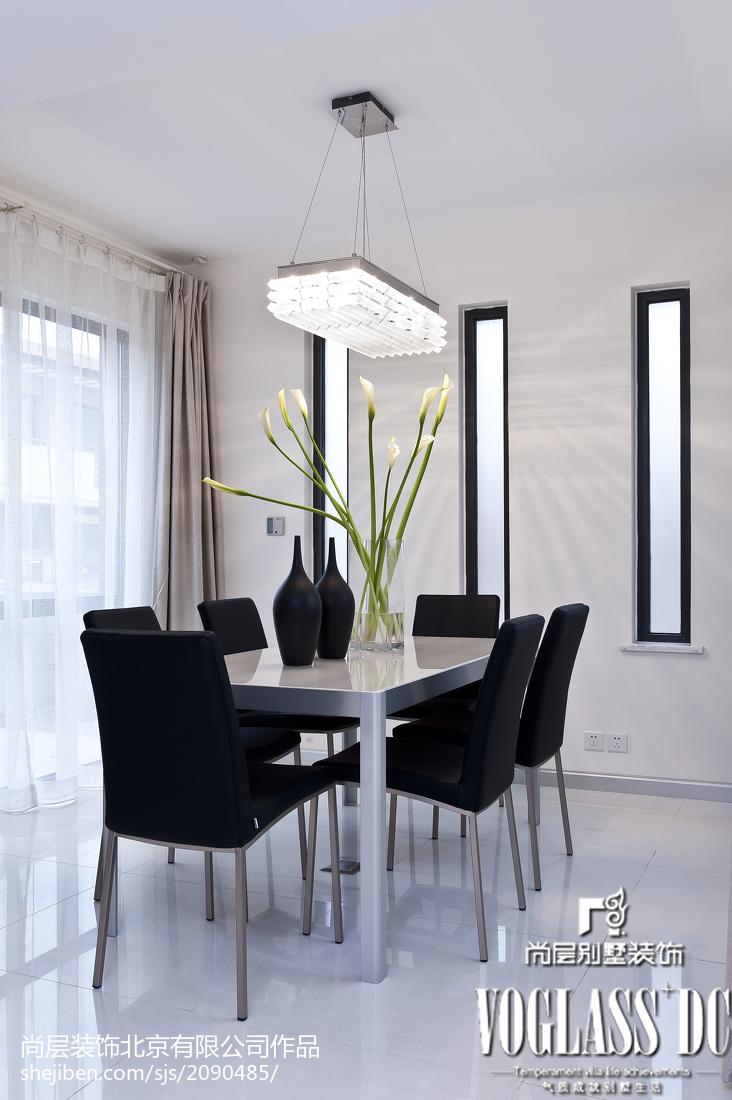 精选116平米现代别墅餐厅装修实景图片