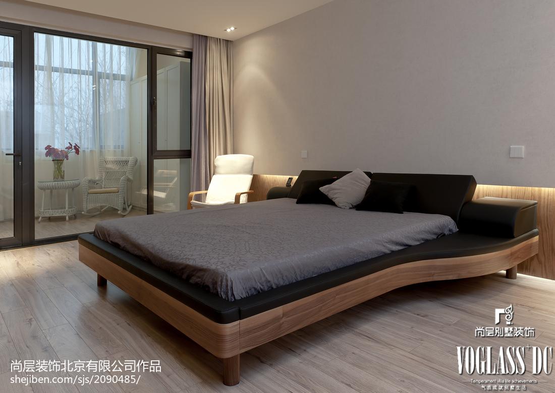 热门面积134平别墅卧室现代装修实景图