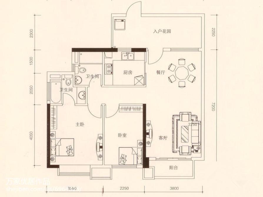 精美二居中式设计效果图