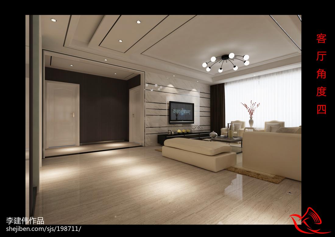 2018130平米四居客厅简约装修欣赏图片大全