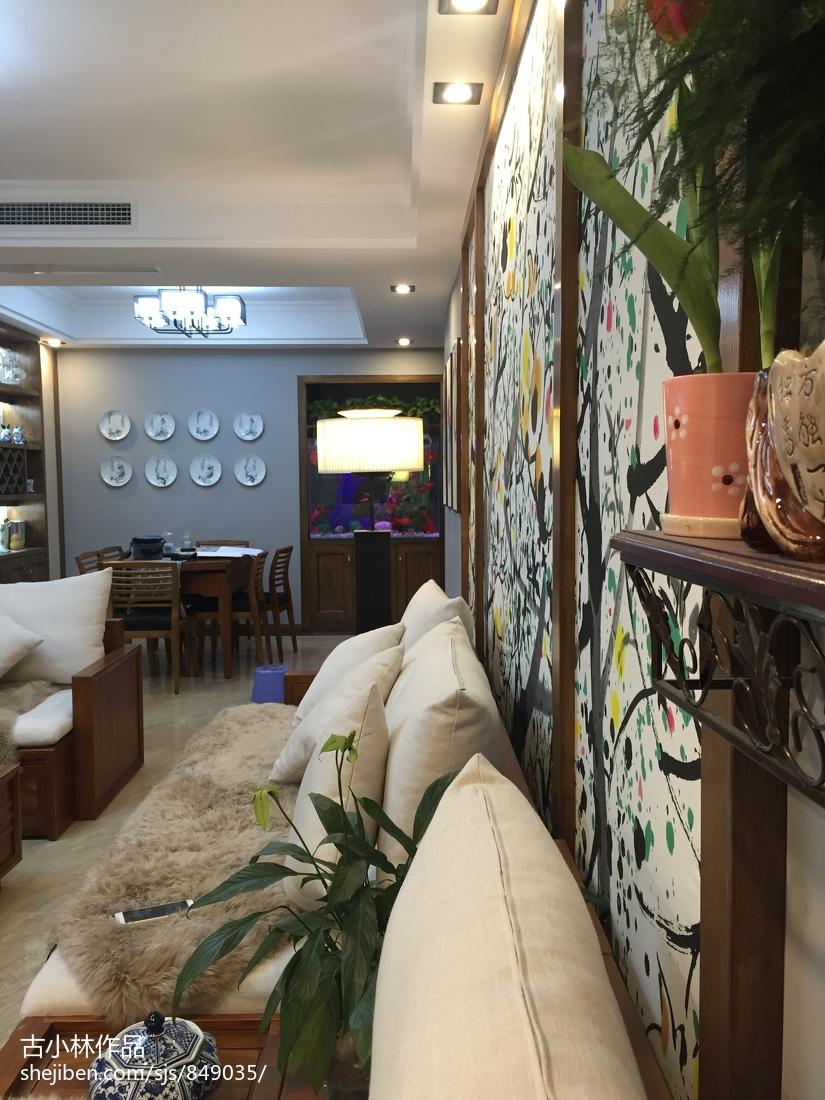 2018104平米三居餐厅中式实景图片