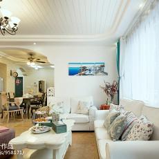97平米三居客厅地中海装修实景图片欣赏