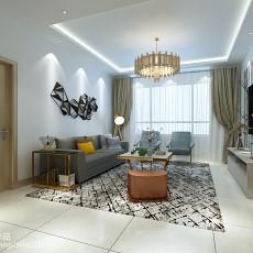 71平米二居客厅现代装修实景图片欣赏
