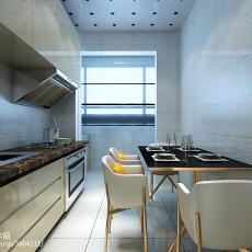 面积70平现代二居餐厅效果图片