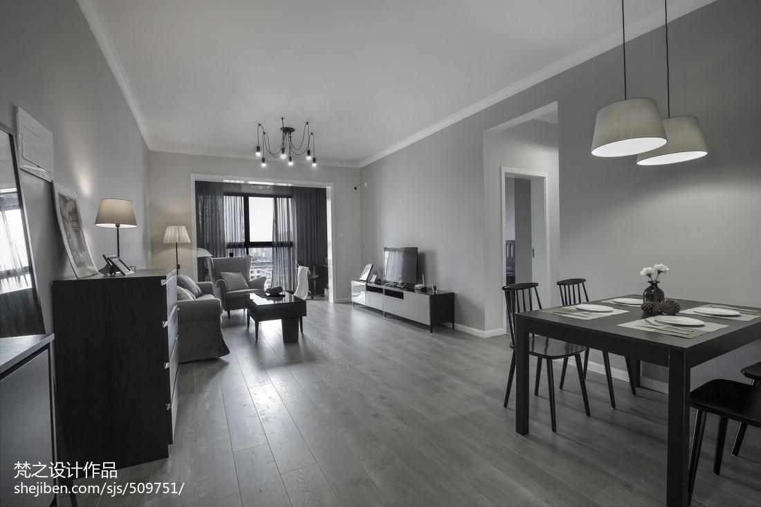 精美73平米现代小户型客厅装修图