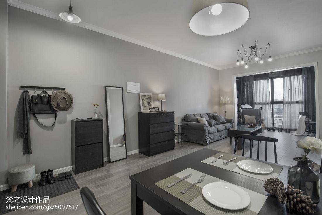 热门79平米现代小户型客厅实景图