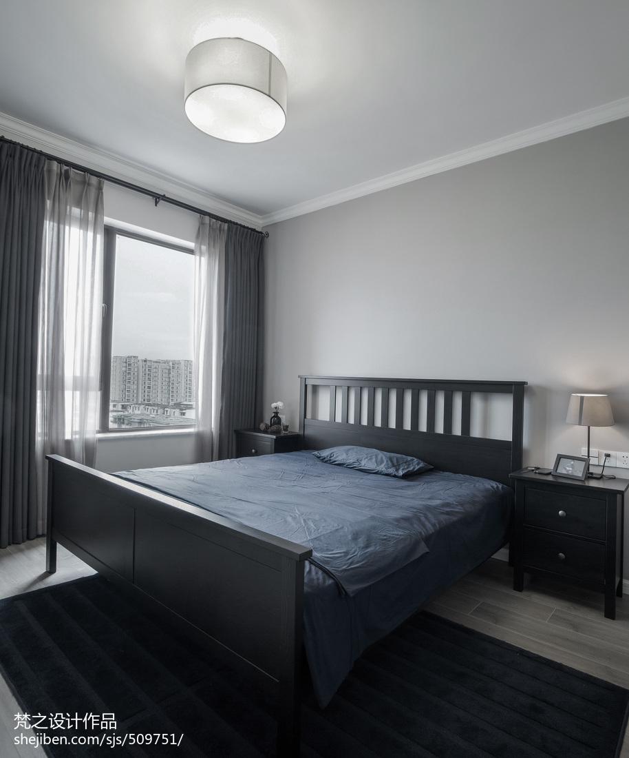 热门82平米现代小户型卧室装修图片欣赏