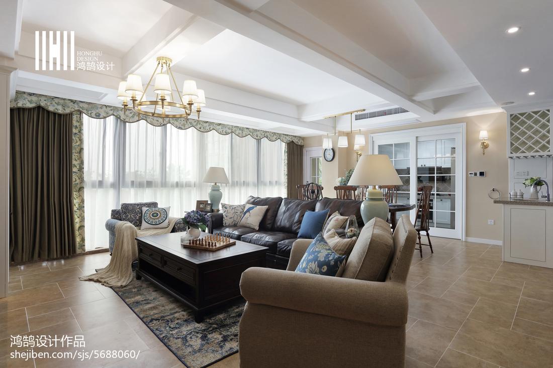 精选123平米四居客厅美式欣赏图