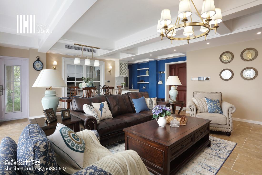 2018精选141平方四居客厅美式实景图
