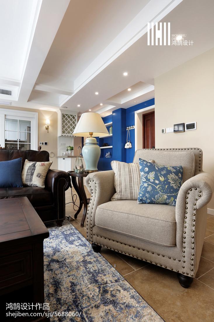 2018大小111平美式四居客厅装修图片欣赏