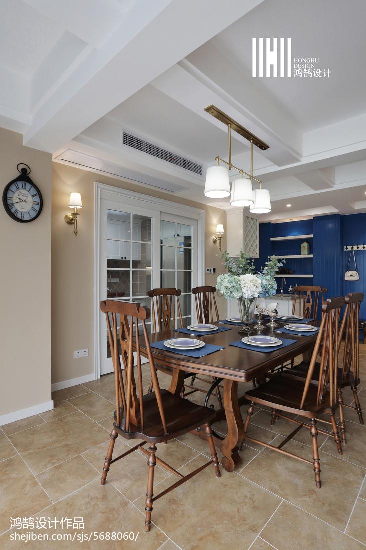 精美面积144平美式四居餐厅装饰图
