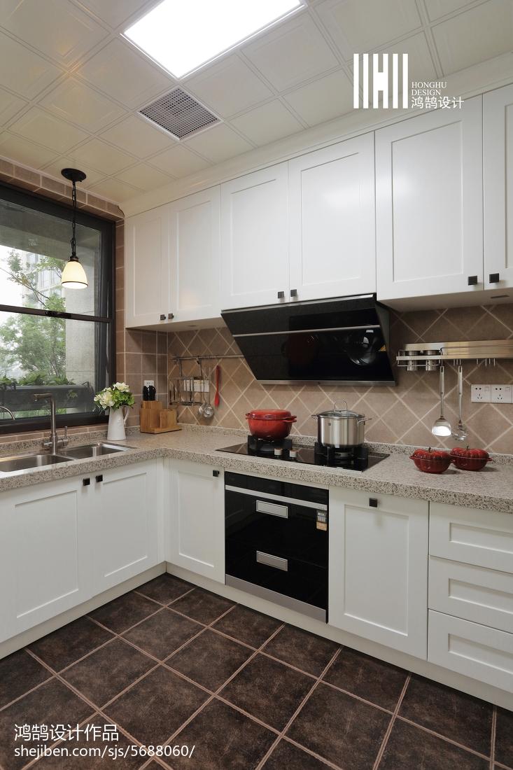 温馨102平美式四居厨房设计案例