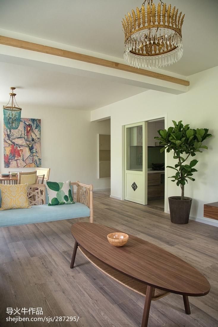 热门面积132平复式客厅北欧装修图
