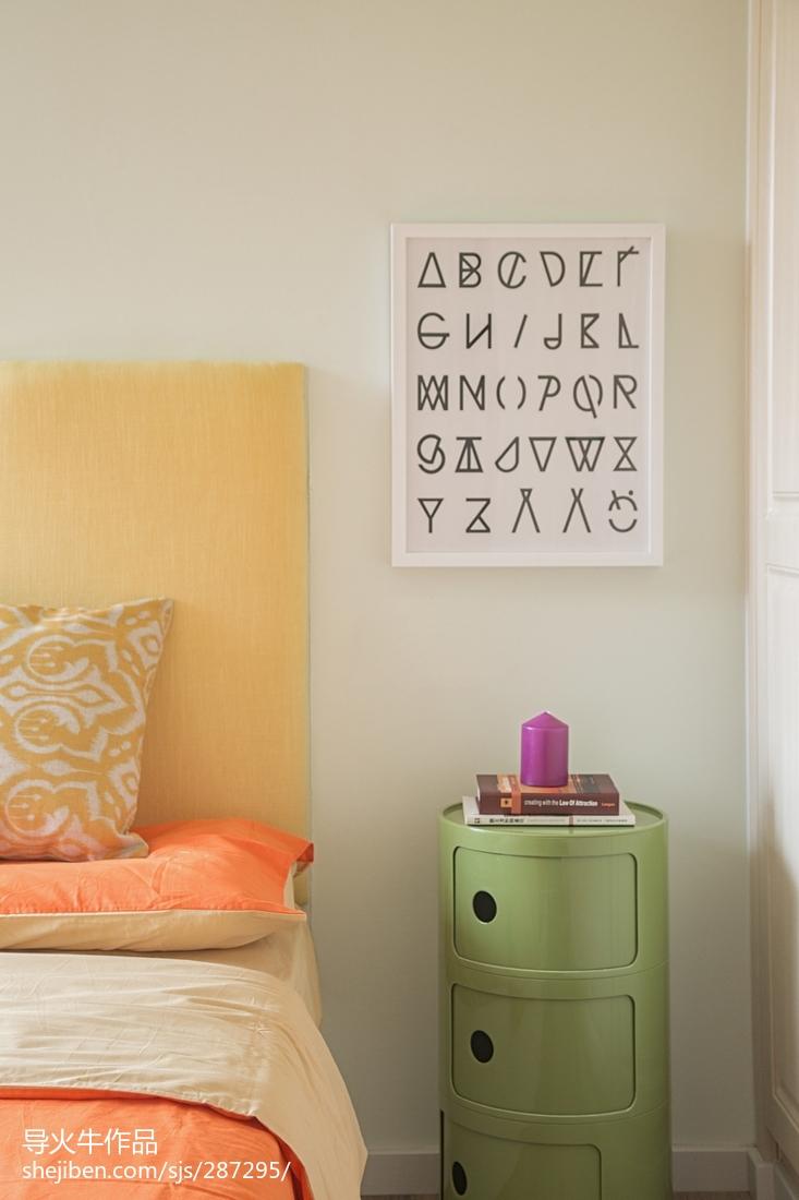 面积123平复式卧室北欧装饰图片大全