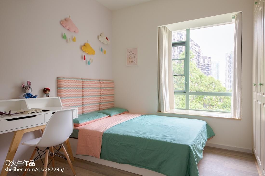 精美142平米北欧复式卧室装修实景图片欣赏