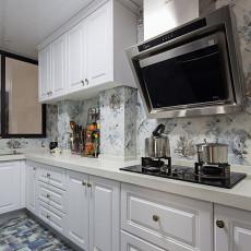 2018精选96平米三居厨房美式装修效果图