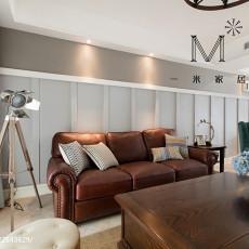 2018109平米三居客厅美式实景图片