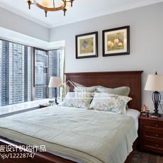 质朴110平美式三居卧室实拍图