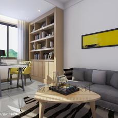 精美面积101平现代三居书房装饰图片大全