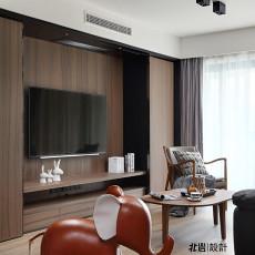 轻奢125平现代三居客厅设计效果图