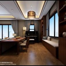 热门122平米中式别墅餐厅装修设计效果图片欣赏