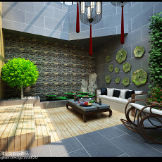 精选130平方中式别墅休闲区装饰图片大全
