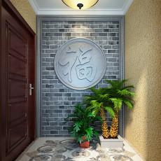 精美别墅玄关中式装修实景图片欣赏