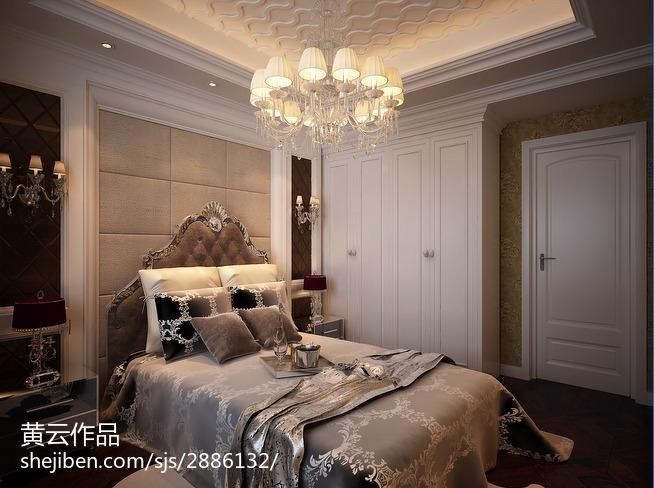 美式四居卧室效果图