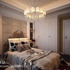 美式四居卧室装饰图片欣赏