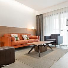 热门面积81平现代二居客厅欣赏图片