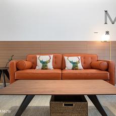 热门70平米二居客厅现代装修实景图片欣赏