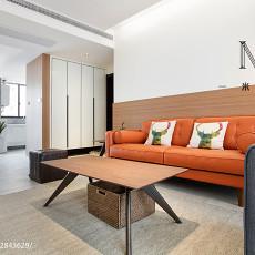 面积70平现代二居客厅装饰图片大全