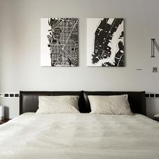 精选面积84平现代二居卧室效果图片