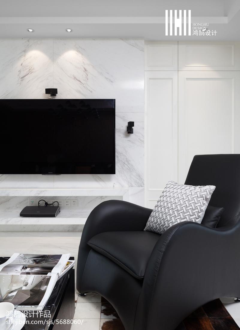 2018大小109平现代三居客厅效果图片大全