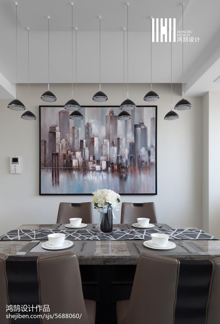 典雅94平现代三居餐厅美图