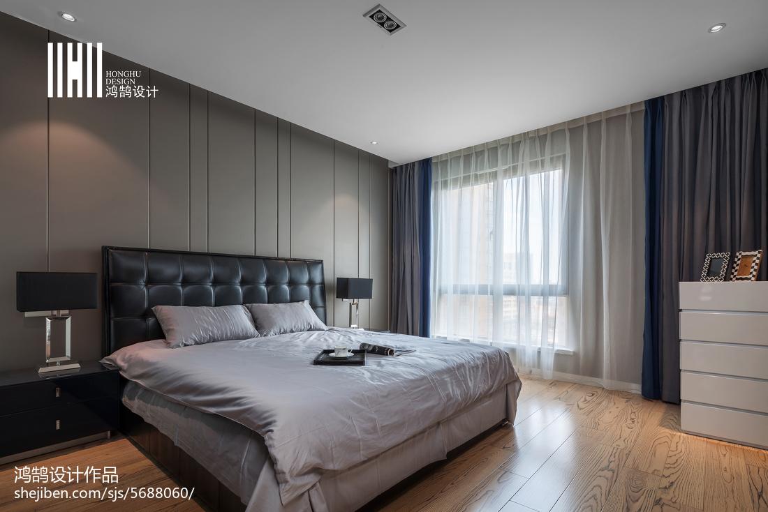 热门96平米三居卧室现代装饰图片欣赏