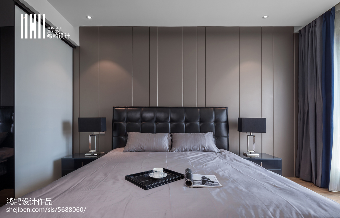 精选面积93平现代三居卧室装修图片欣赏