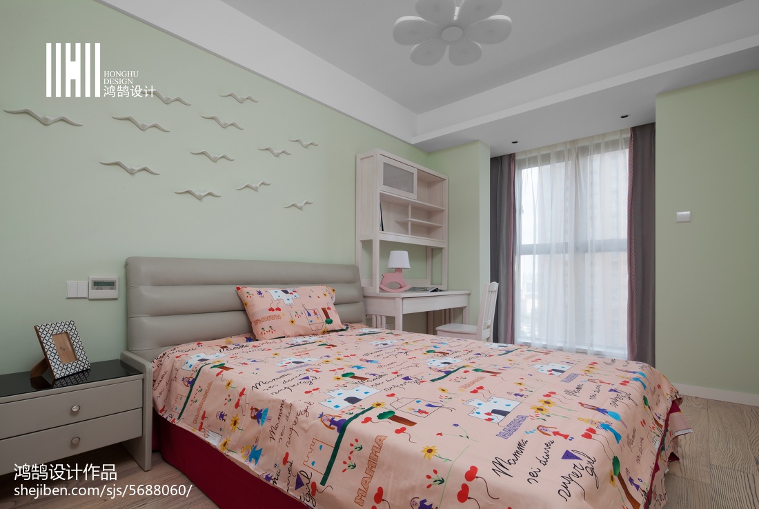 明亮105平现代三居儿童房效果图片大全