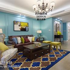 时尚美式风格客厅设计效果图