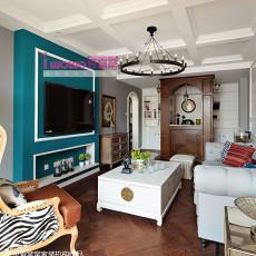 面积86平美式二居客厅效果图片欣赏