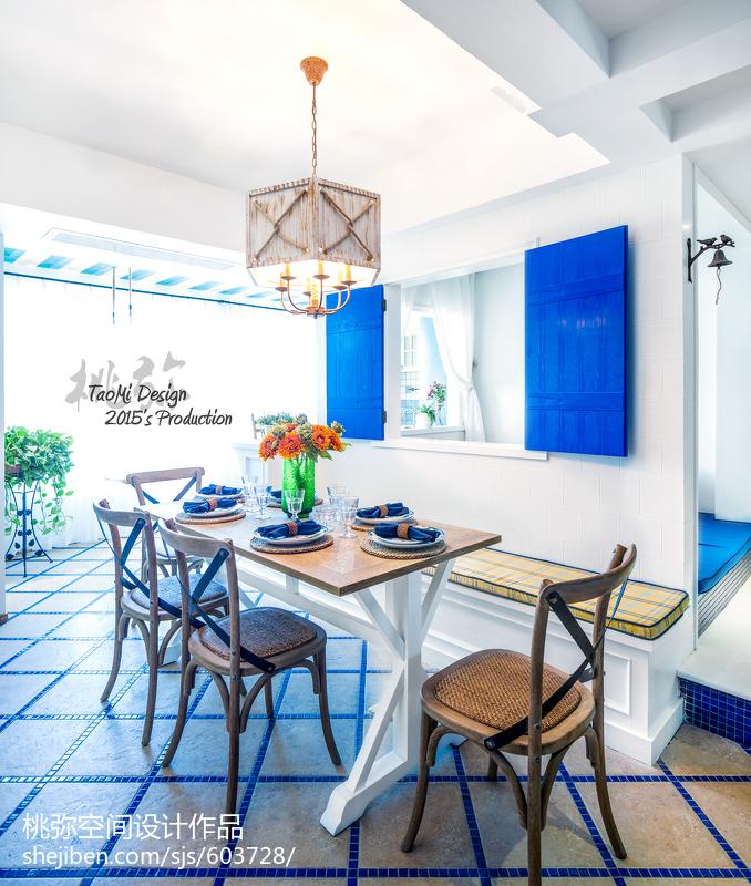2018地中海三居餐厅装修欣赏图片大全