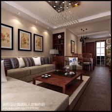 二居客厅中式装修实景图片大全
